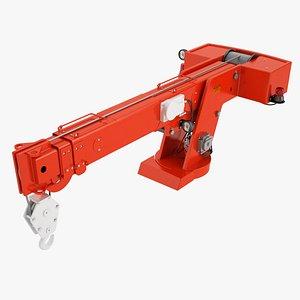 3D model Industrial Carry Deck Crane Arrow 02