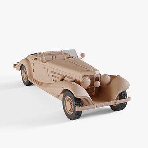 3D model 1936 Mercedes-Benz 540K Roadster