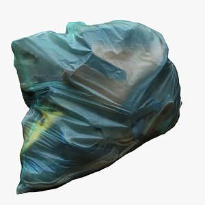 3D Garbage Bag 16 with Shoes model