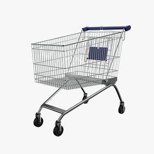 3D Shopping Cart Blue model