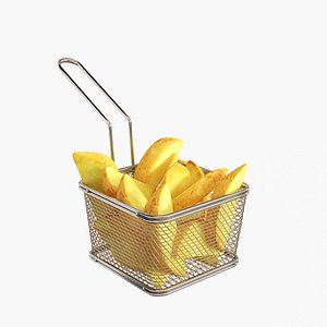 Stainless Steel Small 5 inches Fryer Basket 1 count box model
