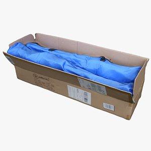 cardboard box bag 3D model