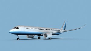3D Airbus A220-300 Corporate 2
