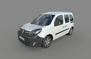 3D model Low Poly Car - Renault Kangoo 2014