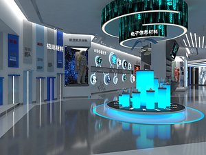 3D Science and Technology Exhibition Hall Digital Exhibition Hall Science and technology sense biologic