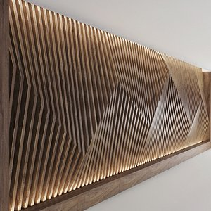 decorative parametric wall panel 3D model