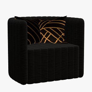 3D Sofa Chair Single Modern