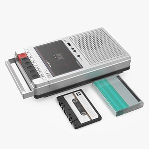 3D Deck Recorder with Tape and Box Set model