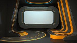 3D Tv Studio Competition Design 3D model