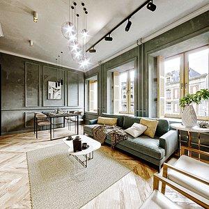 scene apartment furniture 3D