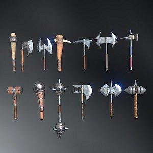 3D hammers set model