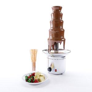 chocolate fountain 3D model