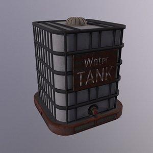3D Water Tank High Poly 3d Model model