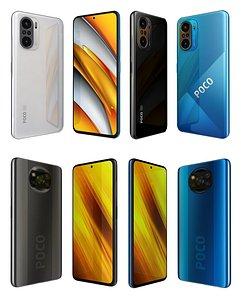 Xiaomi Poco F3 And X3 3D model