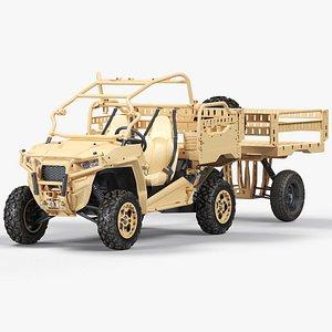 Polaris MRZR 2 Tactical Trailer model