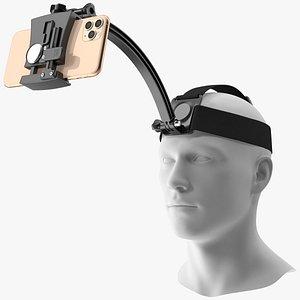 mannequin head smartphone holder 3D model