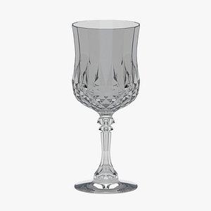 3D Bar Craft Acrylic Ornate Elegance Wine Glass