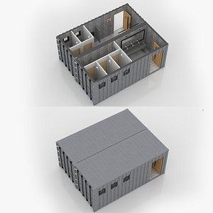 Container Public WC 3D model