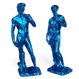 David Michelangelo Tall edges Blue model