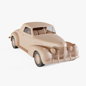 1939 Oldsmobile 80 convertible 3D