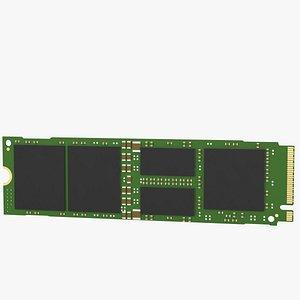 SSD M2 internal solid state drive 3D model