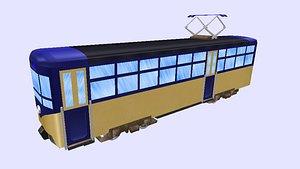 tram light rail heritage 3D model