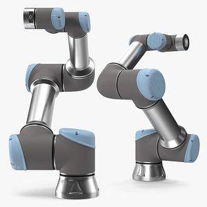 3D Universal Robots UR5e Industrial Robot model