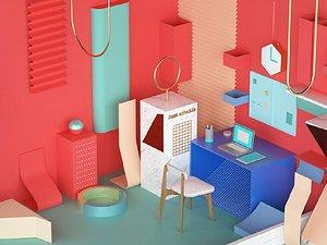 Crimson office 3D model