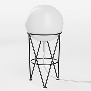 STRUCTURE AND GLOBE table lamp 3D model