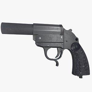 LP34 Flare gun Leuchtpistole 34 3D model