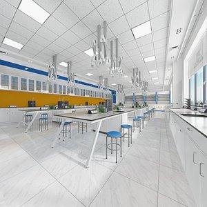 Classroom of Chemistry - Laboratory 3D