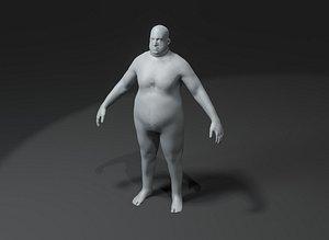 3D Male Body Fat Base Mesh model