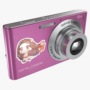 Compact digital camera 02 3D
