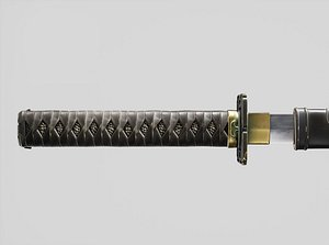 3D model aaa sword ninjato short