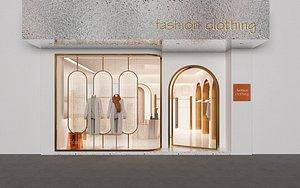 3D model Lady Clothing Shop 2