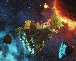 3D Space Island