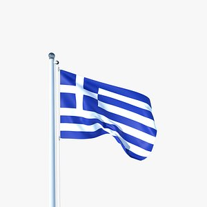 3D Animated Flag of Greece model