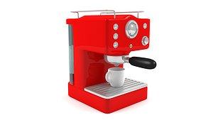vintage coffee machine 3D model