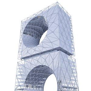 3D model city architecture