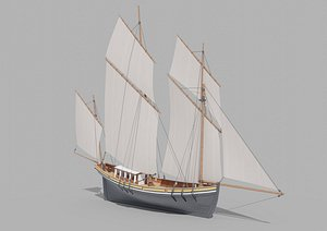 3D Sail Yacht
