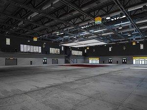 exhibition hall interior 3D model
