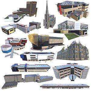 Campus Building Pack 01 model