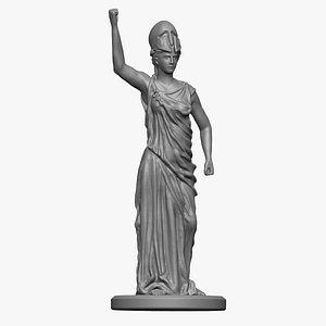 3D Athena statue 3D print model