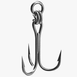 Stainless Steel Fishing Hook 3D model