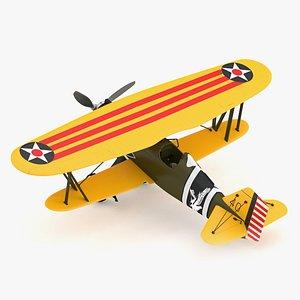 3D Curtiss P-6 Hawk