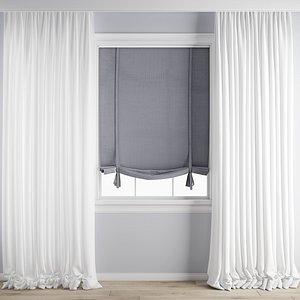 3D Curtain170 model