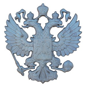 3D model Russian coat of arms Double-headed eagle
