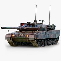Rigged Leopard 2A7 GameReady LODs