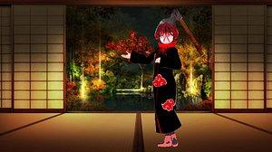 Halloween ninja -AKATSUKI Little Lady Hinatavrm -Naruto- 3D model