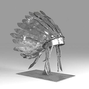 3D hat apache model